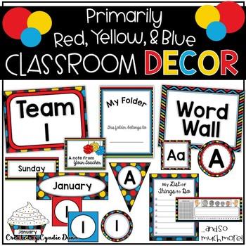 Classroom Decor Primary Colors