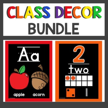 Classroom Decor Primary and Black Themed