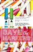 Classroom Decor Printable Poster: Save the Markers! How to Care for Supplies