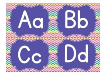 Classroom Decor ~ Purple Teal Coral