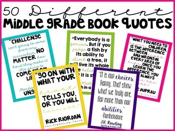 Classroom Decor Quote Posters for Middle Grades {Colorful Version}