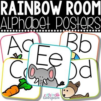 Classroom Decor - Rainbow Alphabet Posters