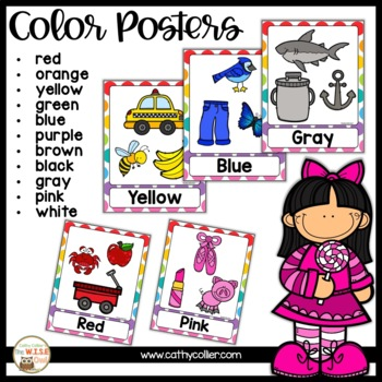 Classroom Decor: Rainbow Dots Color and Shape Poster