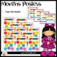 Classroom Decor: Rainbow Dots Months and Days ONLY