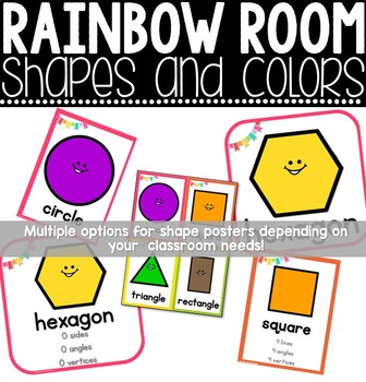 Classroom Decor - Rainbow Shapes and Colors Posters