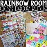Classroom Decor - Rainbow Theme Classroom Bundle
