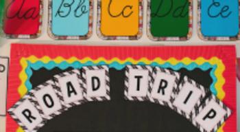 Classroom Decor Road Trip Bulletin Board Letters