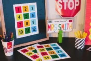 Classroom Decor Road Trip Calendar Numbers