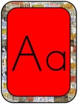 Classroom Decor Road Trip Print Alphabet Letters