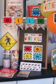 Classroom Decor Road Trip Welcome Banner License Plates
