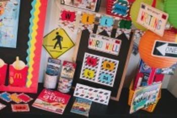 Classroom Decor Road Trip Word Wall Labels