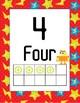 Classroom Decor Robot Numbers 1-10