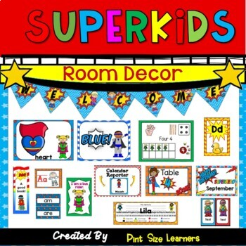 Classroom Decor  Room Theme  Superhero  Editable