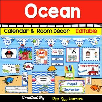 Classroom Decor  Room Theme  Under the Sea   Editable