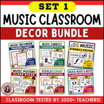 Music Classroom Decor:  SAVINGS BUNDLE: Set 1: Music Vocabulary