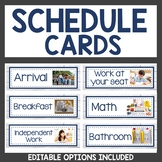 Classroom Decor Schedule Cards
