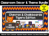 Classroom Decor Set - Blue Orange Tigers Theme