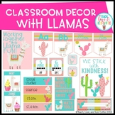 Classroom Decor Set Llama Edition (EDITABLE)