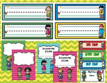 Classroom Decor Set Featuring Melonheadz Clipart Spanish Version