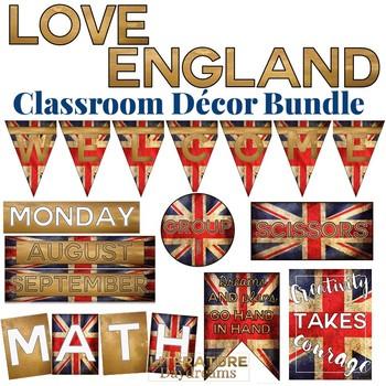 Secondary Classroom Decor Set Love England