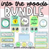 Classroom Decor Set - BUNDLE ( Calming Woodland Theme )
