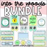 Classroom Decor Set - BUNDLE ( Calming Woodland Theme )