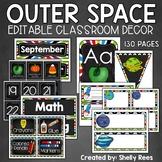 Classroom Decor - Outer Space Theme Classroom - EDITABLE