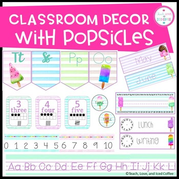 Classroom Decor Set Popsicles (EDITABLE)