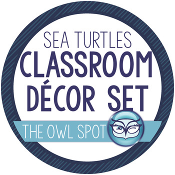 Classroom Decor Set: Turtle Themed