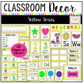 Classroom Decor Set-Yellow