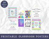 Classroom Decor - Set of 20 Prints - Classroom Wall Art, I