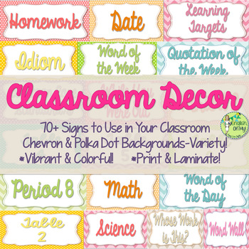 Posters, Signs for ANY Classroom, classroom decor