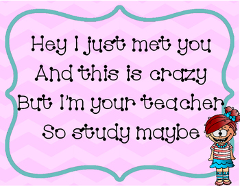 Classroom Poster: So Study Maybe