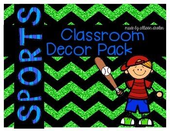 Classroom Decor Sports Edition