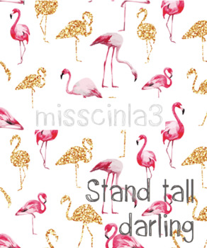 "Classroom Decor - ""Stand Tall Darling"""