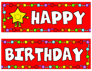 Classroom Decoration Star Birthday English Posters and Certificates