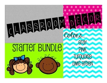 Classroom Decor Starter Bundle