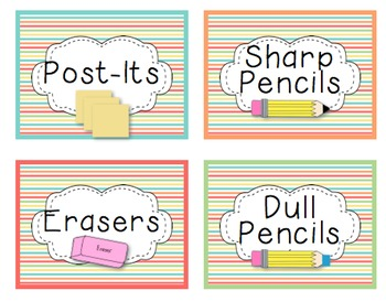 Classroom Decor Striped