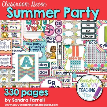 Classroom Decor Summer Party