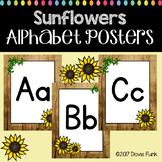 Classroom Decor Sunflower Alphabet Posters