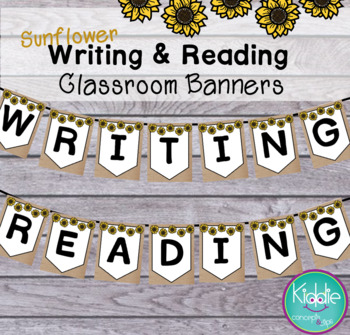 Classroom Decor Sunflower - Writing and Reading Banners