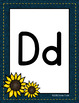 Classroom Decor Sunflower and Denim Alphabet Posters