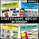 Classroom Decor Super Bundle 3 in Spanish