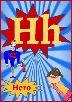 Classroom Decor- Superhero Alphabet Posters