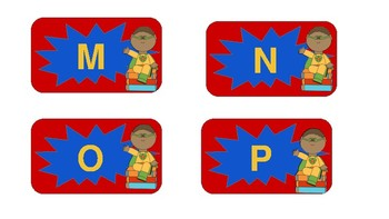 Classroom Decor- Superhero Number and Letter Labels