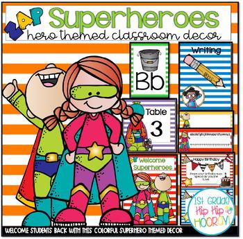 Classroom Decor...Superhero Theme!!