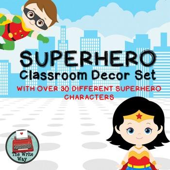 Classroom Decor - Superhero Theme