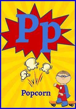 Classroom Decor- Superhero Themed Alphabet Posters