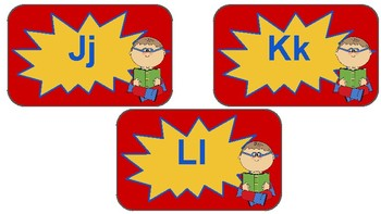 Classroom Decor- Superhero Word Wall Letters Labels