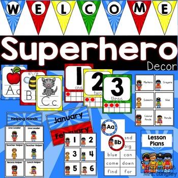 Classroom Decor Superheroes